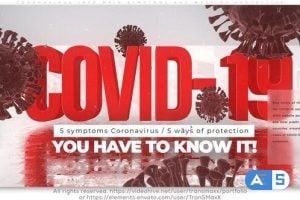 Videohive Coronavirus Info_Main Symptoms and Ways of Protection 26151993