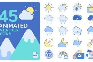 Videohive Animated Weather Icons 25901824