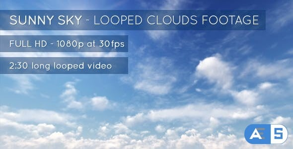 Videohive Sunny Sky and Clouds 7647173