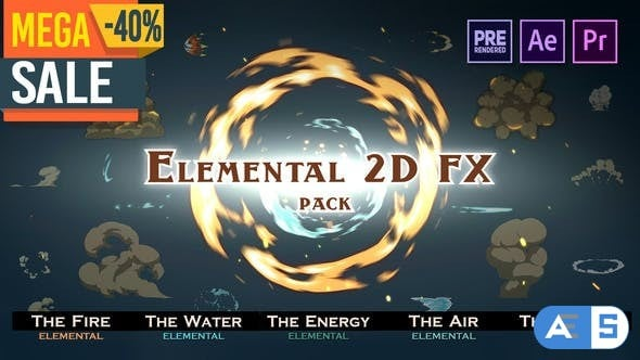 Videohive Elemental 2D FX pack 9673890