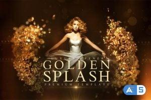 Videohive Golden Splash 22588972