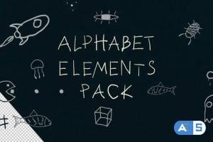 Videohive Alphabet Elements 25752244