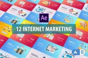 Videohive Internet Marketing – Flat Animation 26126197