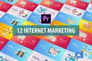 Videohive Internet Marketing – Flat Animation (MOGRT) 26128353