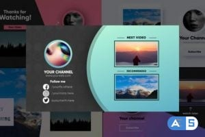 Videohive Youtube End Screens 26117296