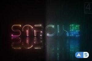 Videohive Neon Stroke Logo 23118199