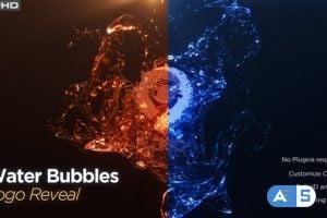 Videohive Water Bubble Logo Reveal 26136501
