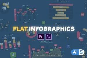Videohive Flat Design Infographics l MOGRT for Premiere Pro 25803249