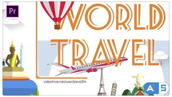 Videohive World Travel Titles – Premiere Pro 25772396