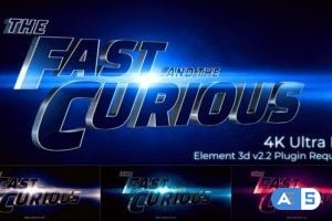 Videohive Cinematic Title Trailer_Fast and the curious 25897760