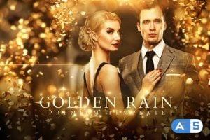 Videohive Golden Rain Opener 22537509