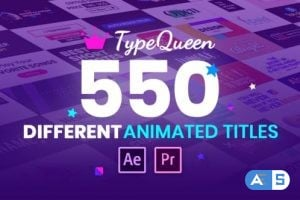 Videohive TypeQueen – Animated Title and Kinetic Text 25728541