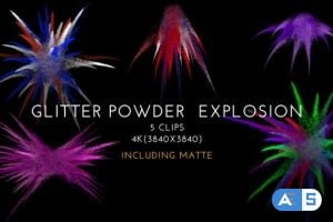 Videohive Glitter Powder Explosion Pack 01 25803785