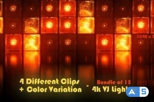 Videohive Vj Cube Lights Stage Reflectors 25875896