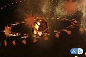 Videohive Golden Ramadan Background 25847141
