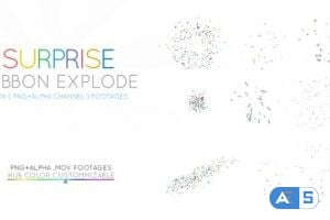 Videohive Surprize Ribbon Explodes 22630926