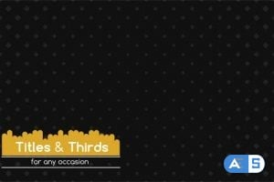 Videohive Titles & Thirds 14683656