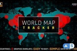Videohive  World Map Population Tracker | COVID-19 Coronavirus Flu Pandemic 25980181