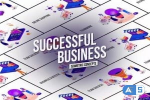 Videohive Successful Business – Isometric Concept 26531099