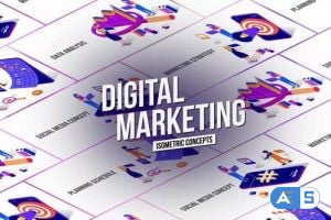 Videohive Marketing – Isometric Concept 26531118