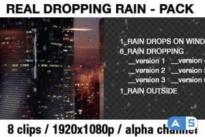 Videohive Transparent Rain Drops – Rain Dropping – Real Rain Effect 20288894