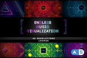 Videohive Endless Music Visualization 4K Footages 16042975
