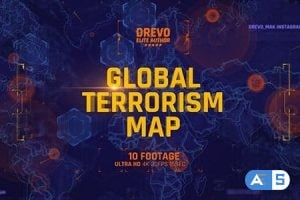 Videohive Global Terrorism Map 4K/Politics and Economic Presentations/ World Terror Infographic/ Bomb & Weapon 21486167