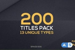 Videohive 200 Titles Collection | Premiere Pro V6.1 24651785