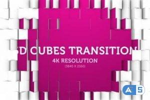 Videohive 3D Cubes Transition 05 – 4K 18013610