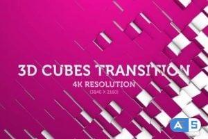 Videohive 3D Cubes Transition 07 – 4K 18013679