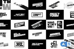 Videohive Modern Big Titles | FCPX or Apple Motion 23836375
