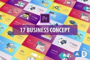 Videohive Business Concept – Flat Animation (MOGRT) 26215849