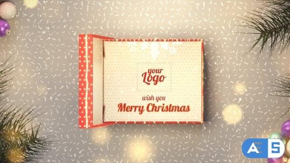 Videohive Christmas Box Gift 25166385