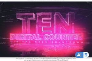Videohive Digital Neon TEN Counter 26319979