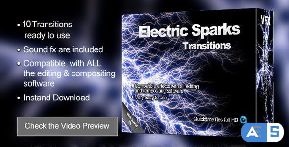 Videohive Electric Transitions 2816849