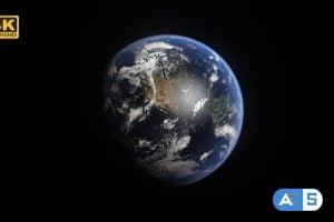 Videohive Realistic Rotating Earth – 4K 26010112
