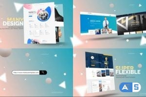 Videohive Abstract Website Mockup Promo 26352762