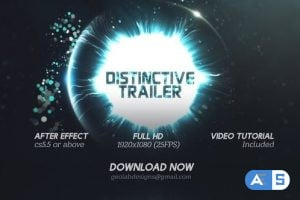 Videohive Distinctive Cinematic Trailer l Particles Lights Trailer l Particles Waves Trailer 26114886