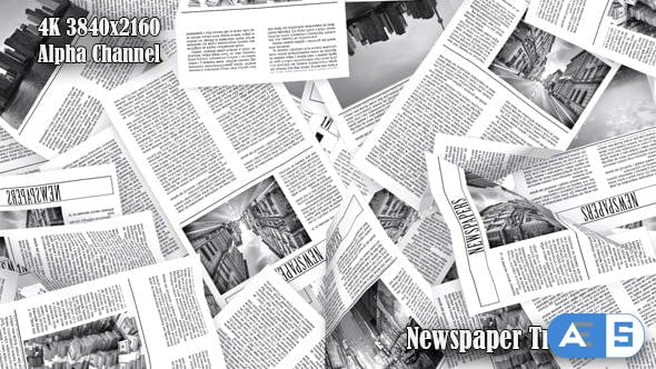 Videohive Newspaper Transition 19660048