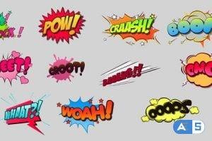 Videohive Comic Bubbles Pack 20959358