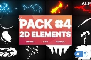 Videohive Flash FX Elements Pack 04 | Motion Graphics Pack 23414673