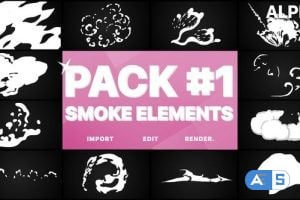 Videohive Smoke Elements Pack 01 | Motion Graphics Pack 23484801