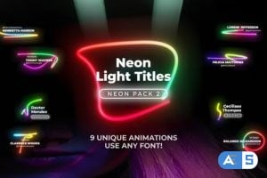 Videohive Neon Light Lower Thirds 2 26297236