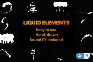 Videohive Liquid Motion Shapes 22955212
