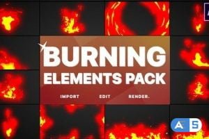 VIDEOHIVE BURNING ELEMENTS | AFTER EFFECTS 26404754