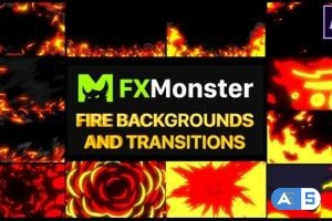 Videohive Fire Backgrounds And Transitions | After effects 26520944