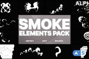 Videohive Funny Smoke Elements   Motion Graphics Pack 22379806
