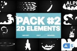 Videohive Flash FX Elements Pack 02 | Motion Graphics Pack 23243764