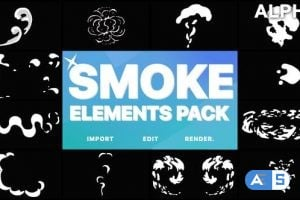 Videohive 2D FX Smoke Elements | Motion Graphics Pack 21795575