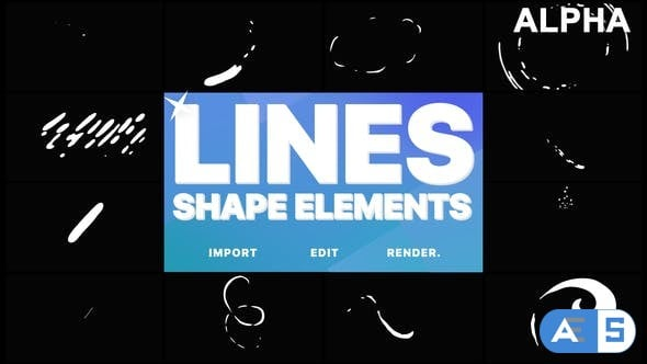 Videohive Flash FX Shape Lines | Motion Graphics Pack 21746598